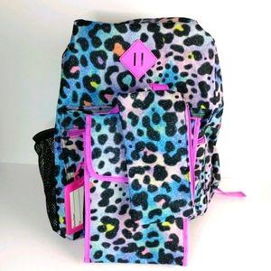 NWT Cheetah print backpack+lunch bag